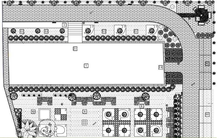 ogród spacerowy projekt